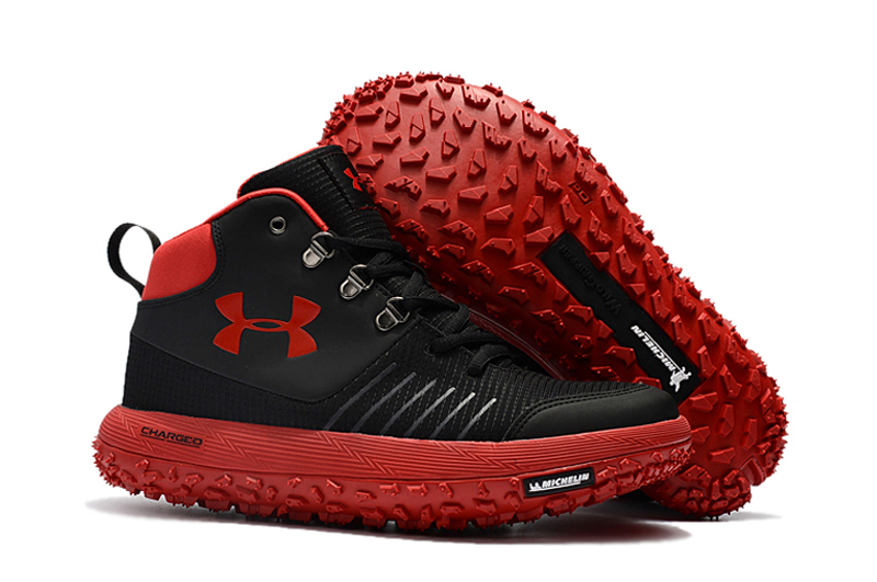 Wholesale Cheap Under Armour UA Fat Tire GTX Black Red Trail Running Shoes For Sale - www.wholesaleflyknit.com