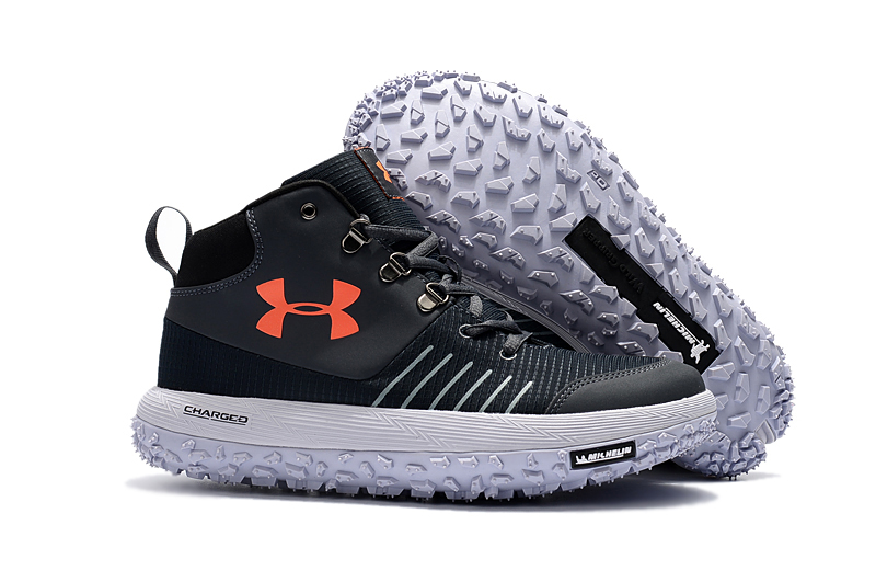 Wholesale Cheap Under Armour UA Fat Tire GTX Black White Orange Trail Running Shoes For Sale - www.wholesaleflyknit.com