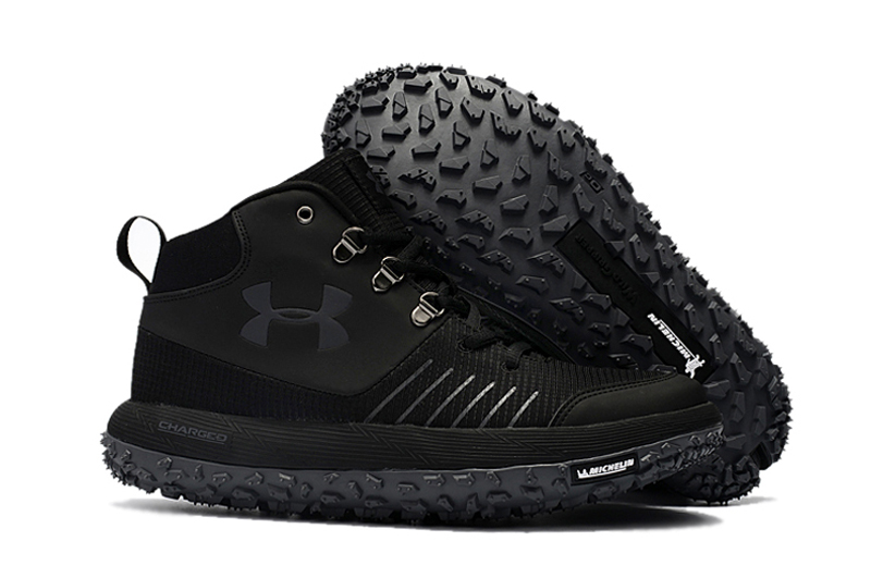 Wholesale Cheap Under Armour UA Fat Tire GTX Triple Black Trail Running Shoes For Sale - www.wholesaleflyknit.com