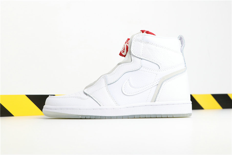 Wholesale Vogue x Cheap Nikes Air Jordans 1 High Zip AWOK  White Red Blanc Rouge BQ0864-106-www.wholesaleflyknit.com