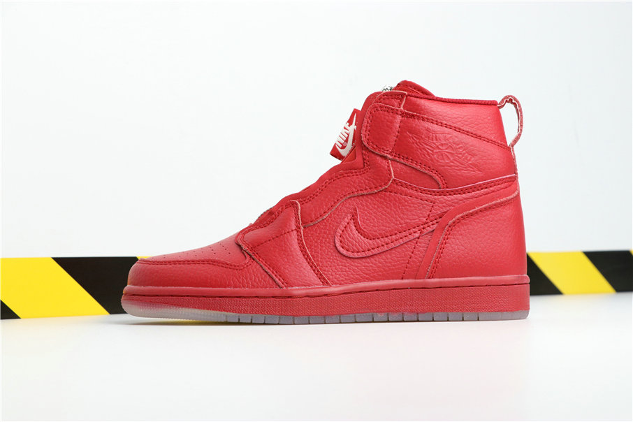 Wholesale Vogue x Cheap Nikes Air Jordans 1 High Zip AWOK Red Semipermeable Rouge BQ0864-610 Vogue-www.wholesaleflyknit.com