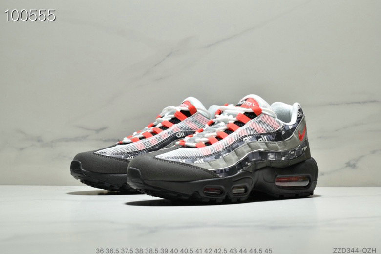 Cheap Wholesale WMNS Nike Air Max 95 HALhes 95 Grey Red Black - www.wholesaleflyknit.com