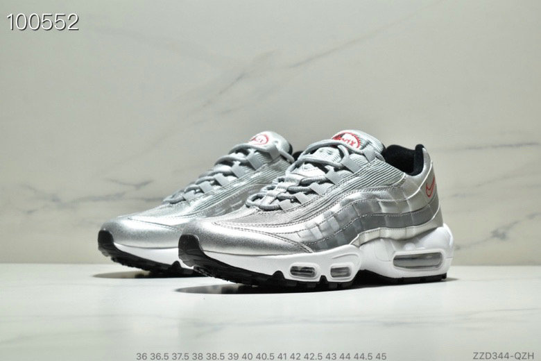 Cheap Wholesale WMNS Nike Air Max 95 HALhes 95 Grey Silver White Black Red - www.wholesaleflyknit.com