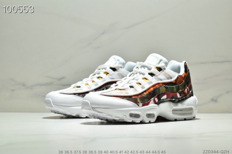 Cheap Wholesale WMNS Nike Air Max 95 HALhes 95 White Army Green Orange - www.wholesaleflyknit.com