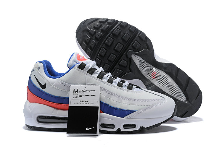 Cheap Wholesale WMNS Nike Air Max 95 HALhes 95 White Blue Pink - www.wholesaleflyknit.com