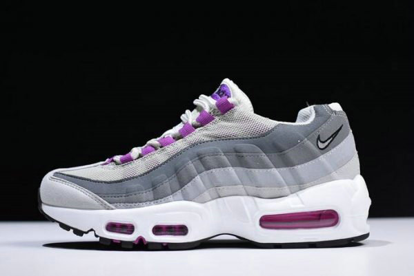 Cheap Wholesale WMNS Nike Air Max 95 Pure Platinum Hyper Violet-Wolf Grey 307960-001 - www.wholesaleflyknit.com