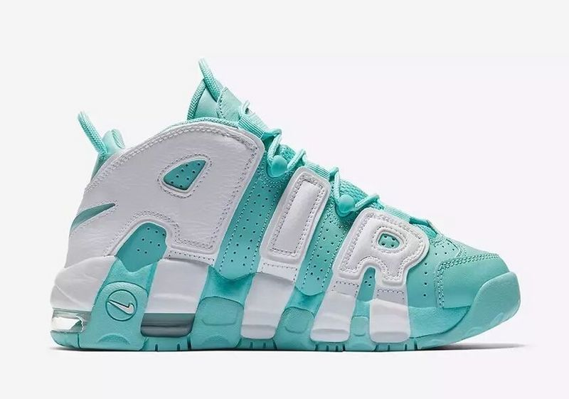 Wholesale Cheap WMNS Nike Air More Uptempo GS Island Green Island Green White-Island Green - www.wholesaleflyknit.com