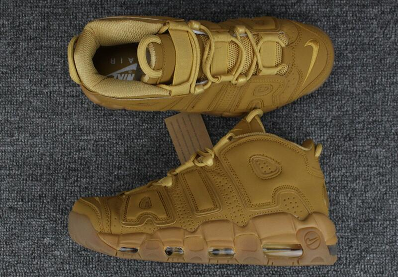 Wholesale Cheap WMNS Nike Air More Uptempo Wheat Flax Flax-Gum Light Brown For Sale - www.wholesaleflyknit.com