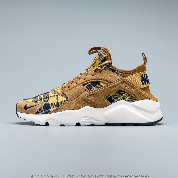 Where To Buy 2019 Womens Cheap Wholesale Nike Air Huarache Ultra Suede ID Brown Soil Yellow White Brun Jaune Sol Blanc AH6809-700 - www.wholesaleflyknit.com