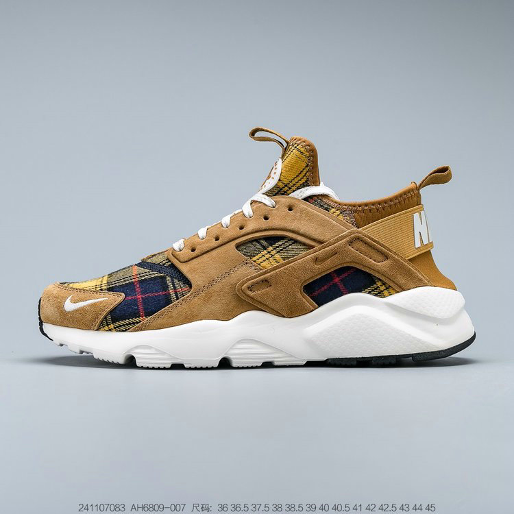 Where To Buy 2019 Womens Cheap Wholesale Nike Air Huarache Ultra Suede ID Wheat Color Dark Blue Black Ble Couleur Bleu Fonce Noir AH6809-007 - www.wholesaleflyknit.com