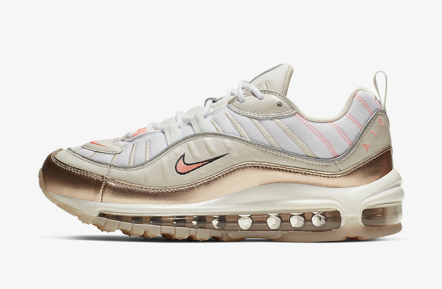 Where To Buy 2019 Womens Cheap Wholesale Nike Air Max 98 Orewood Brown Lava Glow-White CI9907-100 - www.wholesaleflyknit.com