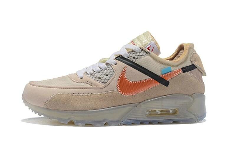 Where To Buy 2019 Womens Cheap Wholesale Off White X Nike Air Max 90 Desert Ore OW AA7293-105 - www.wholesaleflyknit.com