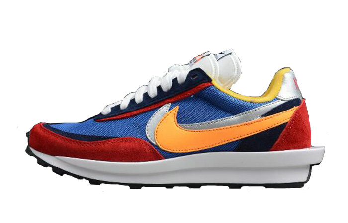 Where To Buy 2019 Womens Cheap Wholesale Sacai x Nike LDV Waffle Daybreak Blue Red BV0073-400 - www.wholesaleflyknit.com