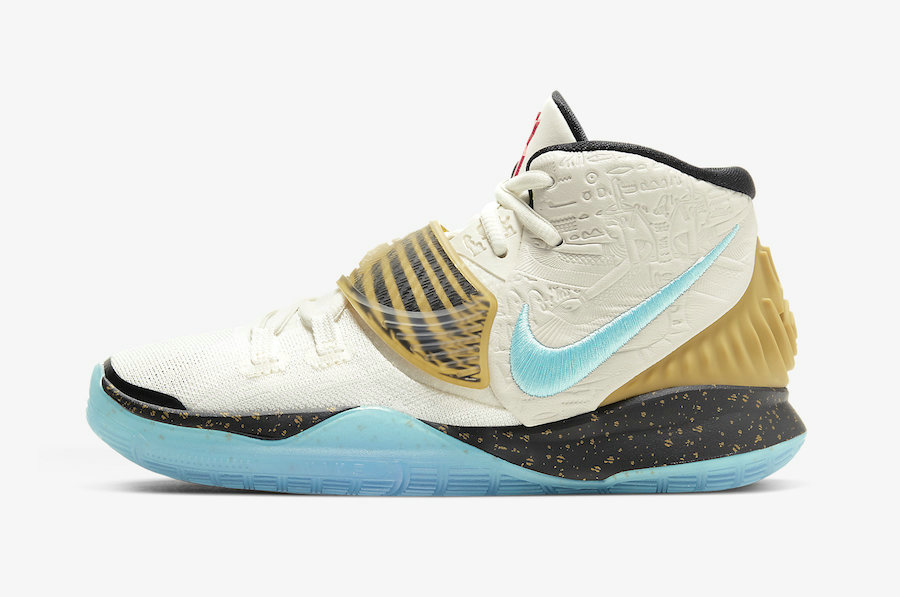 Where To Buy 2020 Cheap Wholesale Concepts x Nike Kyrie 6 GS Golden Mummy CV5572-149 - www.wholesaleflyknit.com