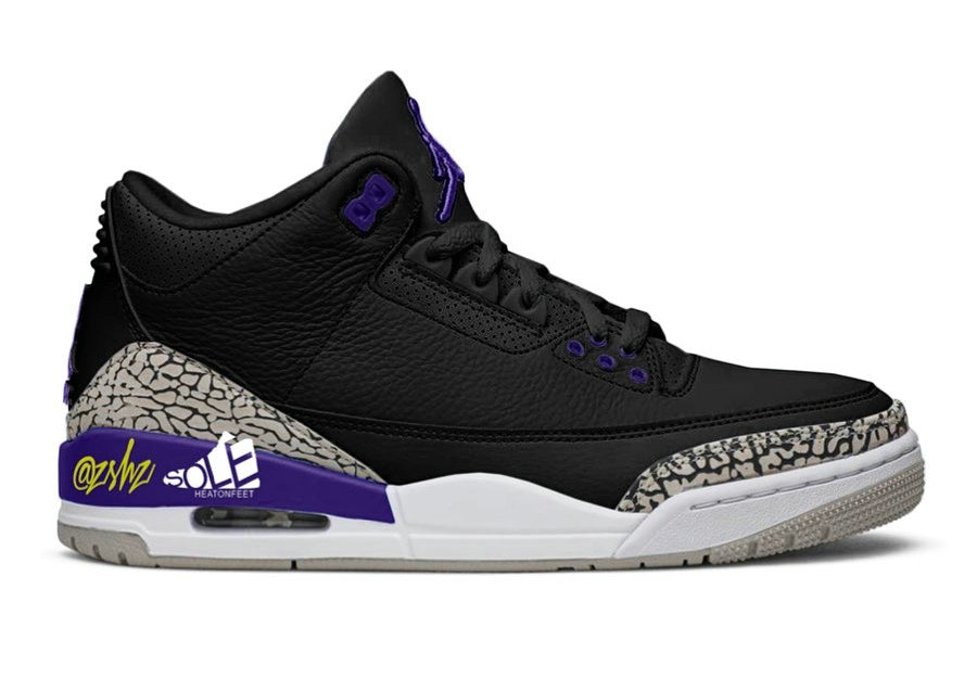 Where To Buy 2020 Cheap Wholesale Nike Air Jordan 3 Black Cement Grey-White-Court Purple CT8532-050 - www.wholesaleflyknit.com