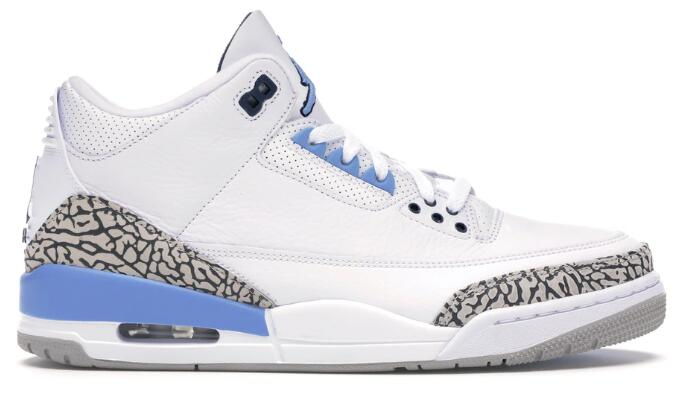 Where To Buy 2020 Cheap Wholesale Nike Air Jordan 3 UNC White Valor Blue-Tech Grey CT8532-104 - www.wholesaleflyknit.com