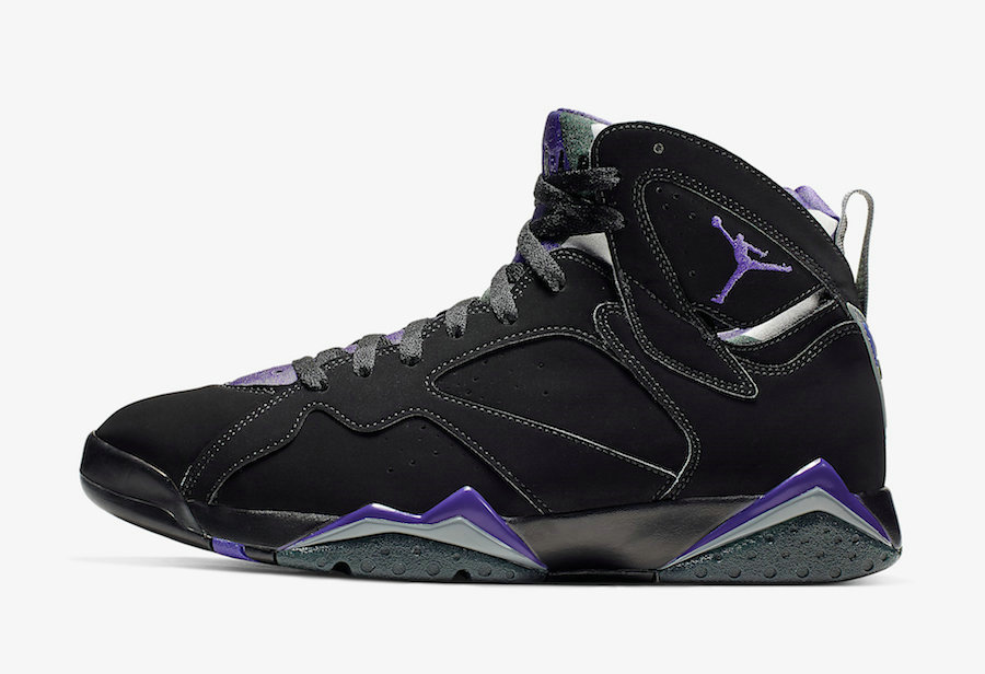 Where To Buy 2020 Cheap Wholesale Nike Air Jordan 7 Ray Allen Black Fierce Purple-Dark Steel Grey 304775-053 - www.wholesaleflyknit.com