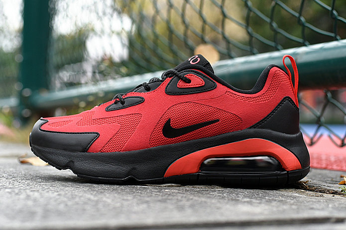Where To Buy 2020 Cheap Wholesale Nike Air Max 200 Black Habanero Red AQ2568-600 - www.wholesaleflyknit.com