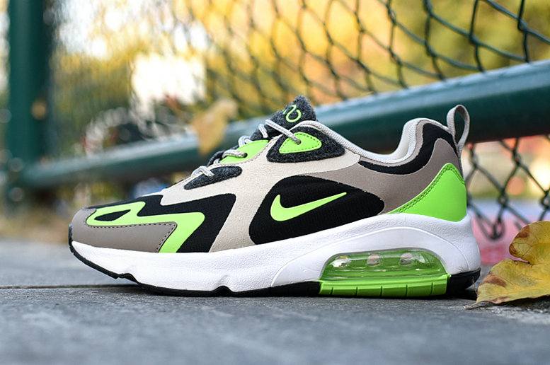 Where To Buy 2020 Cheap Wholesale Nike Air Max 200 Black White-Stone Brown-Electronic Green CQ4599-041 - www.wholesaleflyknit.com