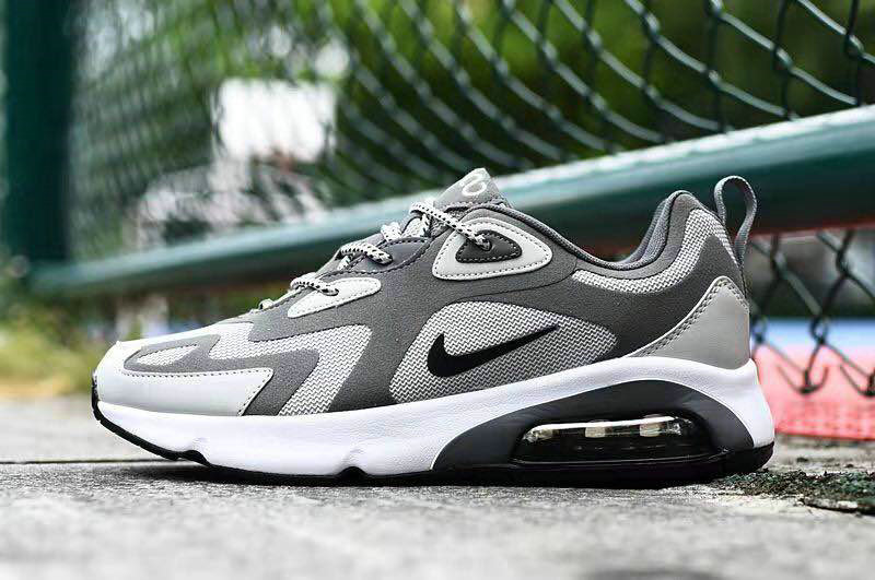 Where To Buy 2020 Cheap Wholesale Nike Air Max 200 Cool Grey Black White - www.wholesaleflyknit.com
