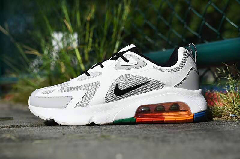 Where To Buy 2020 Cheap Wholesale Nike Air Max 200 Vast Grey Black-White-Pacific-Blue AQ2568-002 - www.wholesaleflyknit.com