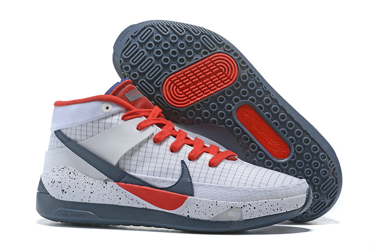 Where To Buy 2020 Cheap Wholesale Nike KD 13 Red Grey White - www.wholesaleflyknit.com