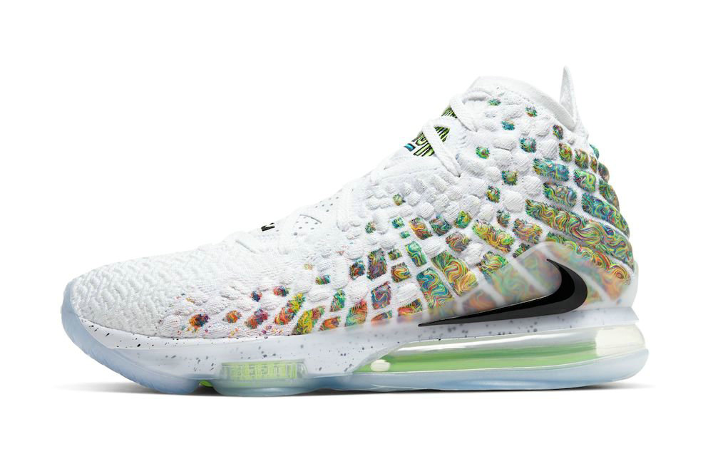 Where To Buy 2020 Cheap Wholesale Nike LeBron 17 Command Force White Black-Multicolor BQ3177-100 - www.wholesaleflyknit.com