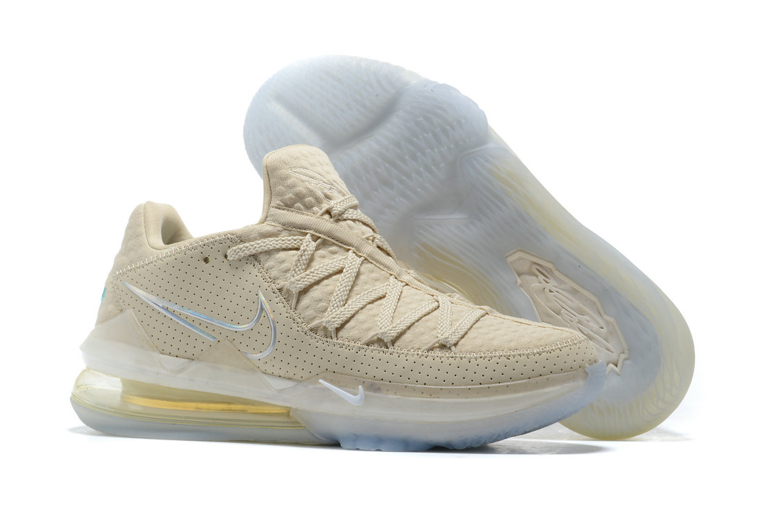 Where To Buy 2020 Cheap Wholesale Nike LeBron 17 Low Light Cream Multi-Color CD5007-200 - www.wholesaleflyknit.com