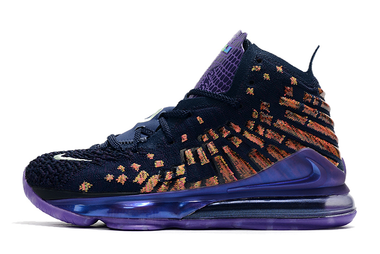 Where To Buy 2020 Cheap Wholesale Nike LeBron 17 Monstars All Star Navy Heather Multi-Color CD5050-400 - www.wholesaleflyknit.com