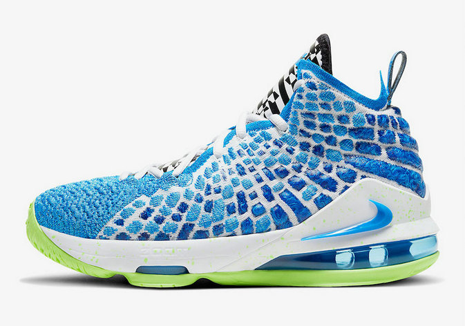 Where To Buy 2020 Cheap Wholesale Nike LeBron 17 Photo Blue Photo Blue-Ghost Green BQ5594-434 - www.wholesaleflyknit.com