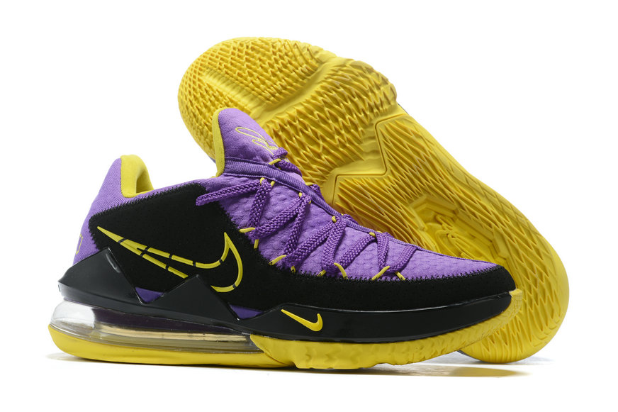 Where To Buy 2020 Cheap Wholesale Nike Lebron 17 Low Purple Black Yellow - www.wholesaleflyknit.com