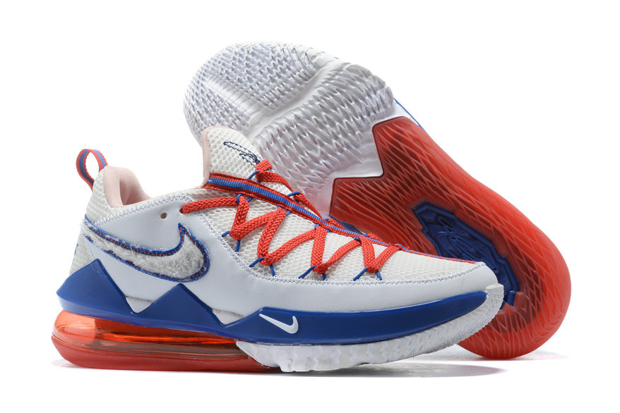 Where To Buy 2020 Cheap Wholesale Nike Lebron 17 Low Tone Squad White University Red Blanc Universite Rouge Blanc CD5007-100 - www.wholesaleflyknit.com
