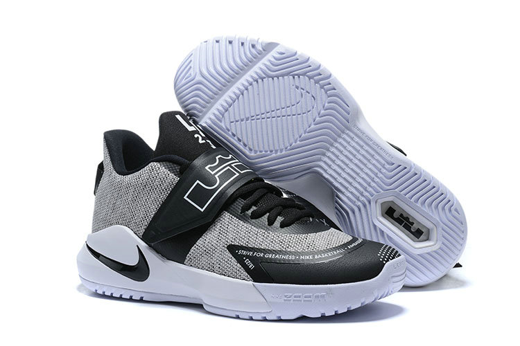Where To Buy 2020 Cheap Wholesale Nike Lebron Ambassador XII Cool Grey Black White - www.wholesaleflyknit.com
