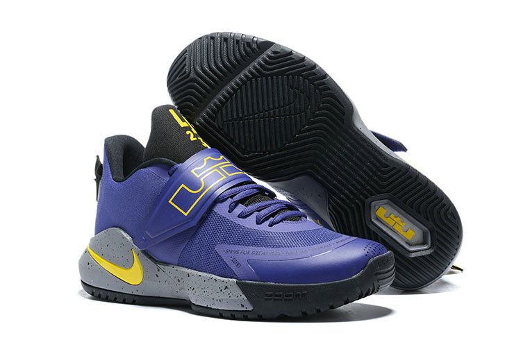 Where To Buy 2020 Cheap Wholesale Nike Lebron Ambassador XII Purple Yellow Grey Black - www.wholesaleflyknit.com