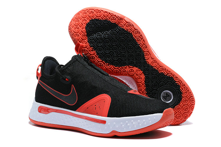 Where To Buy 2020 Cheap Wholesale Nike PG 4 Bred Black University Red-White CD5079-003 - www.wholesaleflyknit.com
