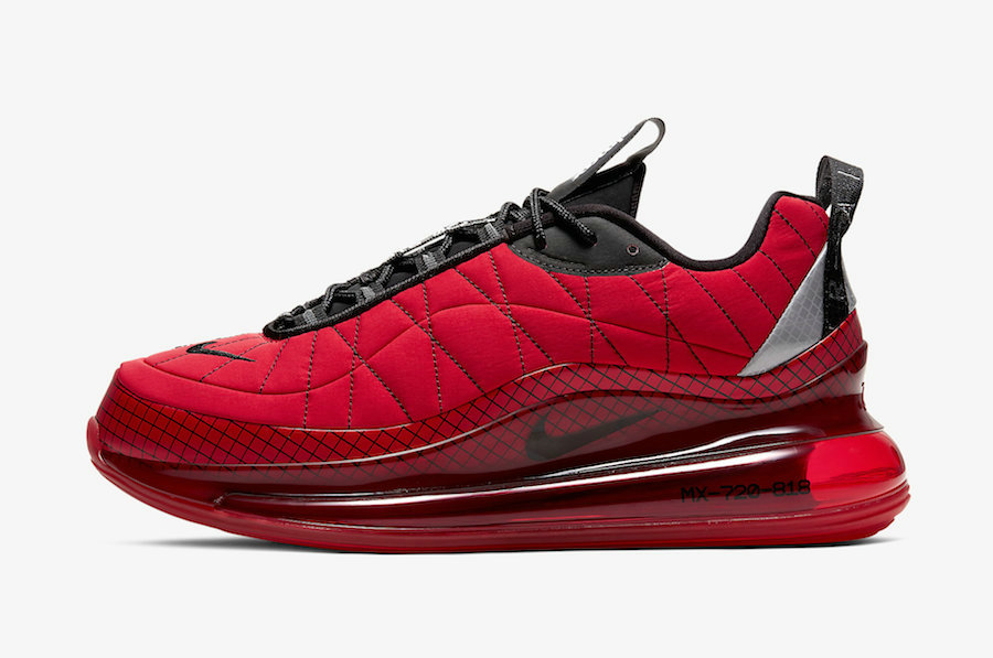 Where To Buy 2020 Mens Cheap Wholesale Nike Air MX 720-818 University Red Black-Reflect Silver CI3871-600 - www.wholesaleflyknit.com