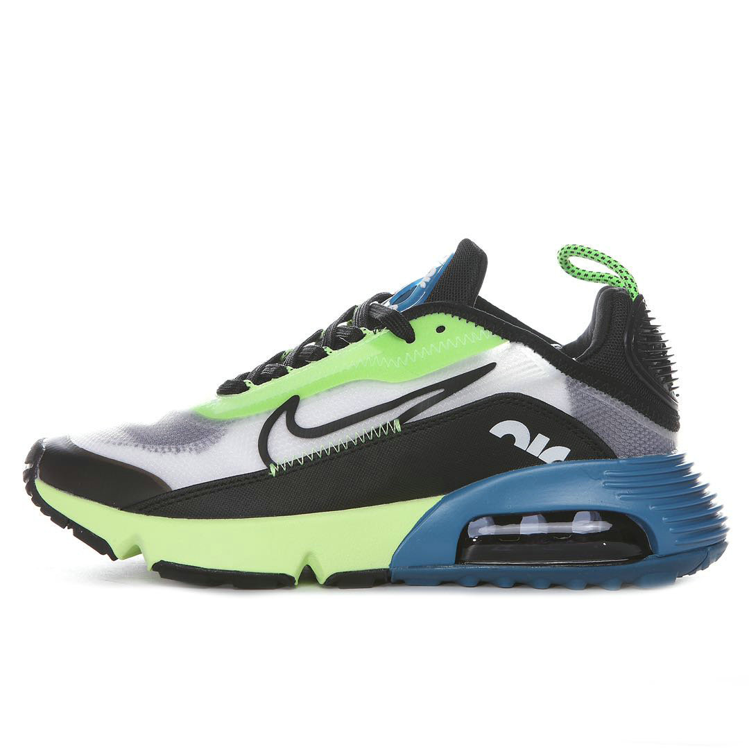 Where To Buy 2020 Mens Cheap Wholesale Nike Air Max 2090 White Black-Volt-Blue Force BV9977-101 - www.wholesaleflyknit.com