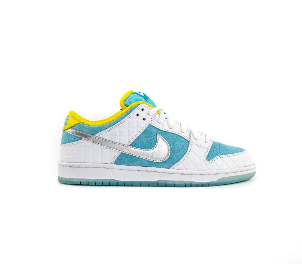 Where To Buy 2021 Cheapest FTC x Nike SB Dunk Low White Lagoon Pulse-Metallic Silver-Speed Yellow DH7687-400 - www.wholesaleflyknit.com