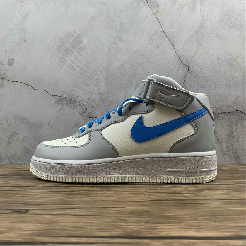 Where To Buy 2021 Cheapest Nike Air Force 1 Mid Retri Cream Grey Blue Lait Blanc Gris 315123-188 - www.wholesaleflyknit.com