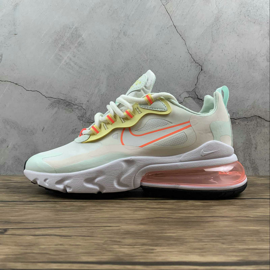 Where To Buy 2021 Cheapest Nike Air Max 270 React Pale Ivory Summit White Green CV8818-102 - www.wholesaleflyknit.com