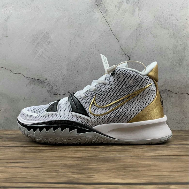 Where To Buy 2021 Cheapest Nike Kyrie 7 EP Platinum White Black Gold CQ9327-101 - www.wholesaleflyknit.com