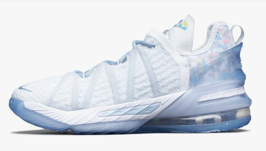 Where To Buy 2021 Cheapest Nike LeBron 18 Play for the Future Blue Tint Clear-White CW3156-400 - www.wholesaleflyknit.com