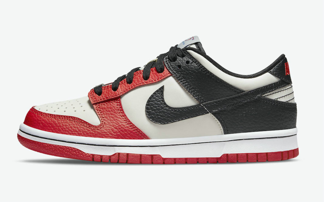Where To Buy 2022 Cheap Wholesale NBA x Nike Dunk Low EMB Chicago Sail Black-Black-Chile Red DD3363-100 - www.wholesaleflyknit.com