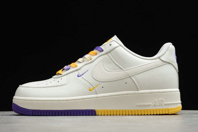 Where To Buy 2022 Cheap Wholesale Nike Air Force 1 07 Low SU19 AF1 White Purple Yellow CT1989-106 - www.wholesaleflyknit.com
