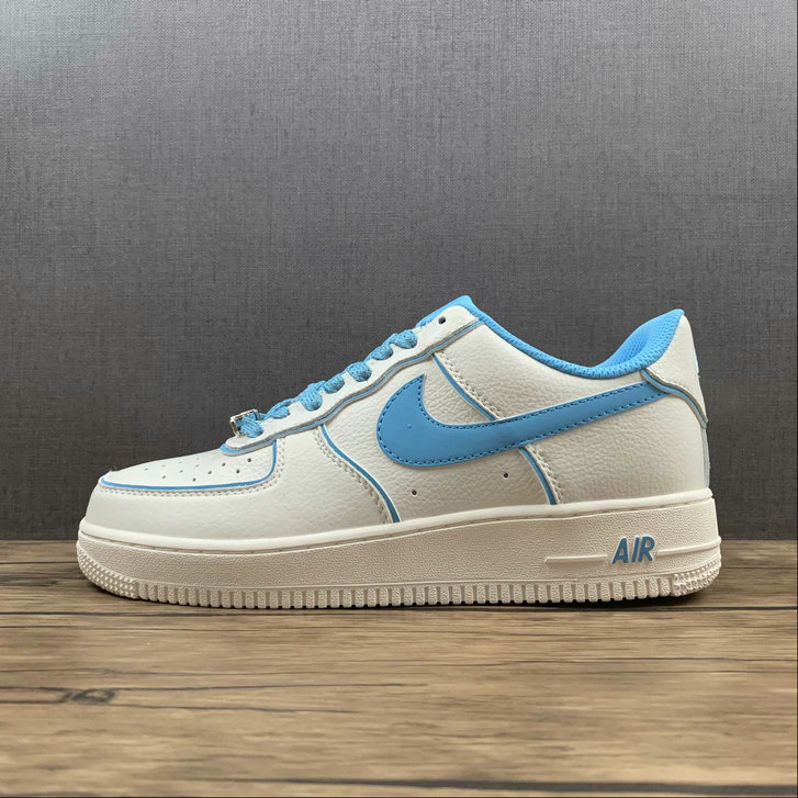 Where To Buy 2022 Cheap Wholesale Nike Air Force 1 07 Low Su19 Blue White Metallic Sliver UH8958-066 - www.wholesaleflyknit.com