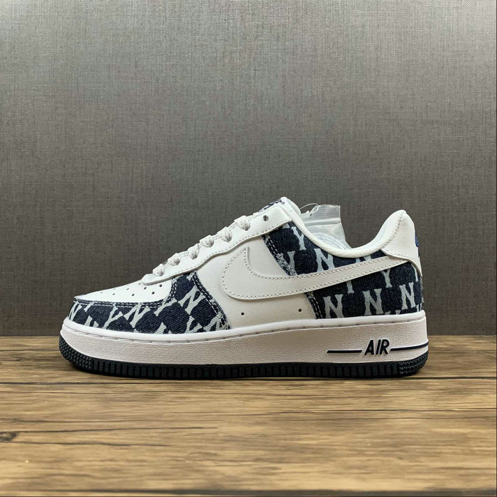 Where To Buy 2022 Cheap Wholesale Nike Air Force 1 07 Low White DK.Blue Canvas Blanc 315122-441 - www.wholesaleflyknit.com