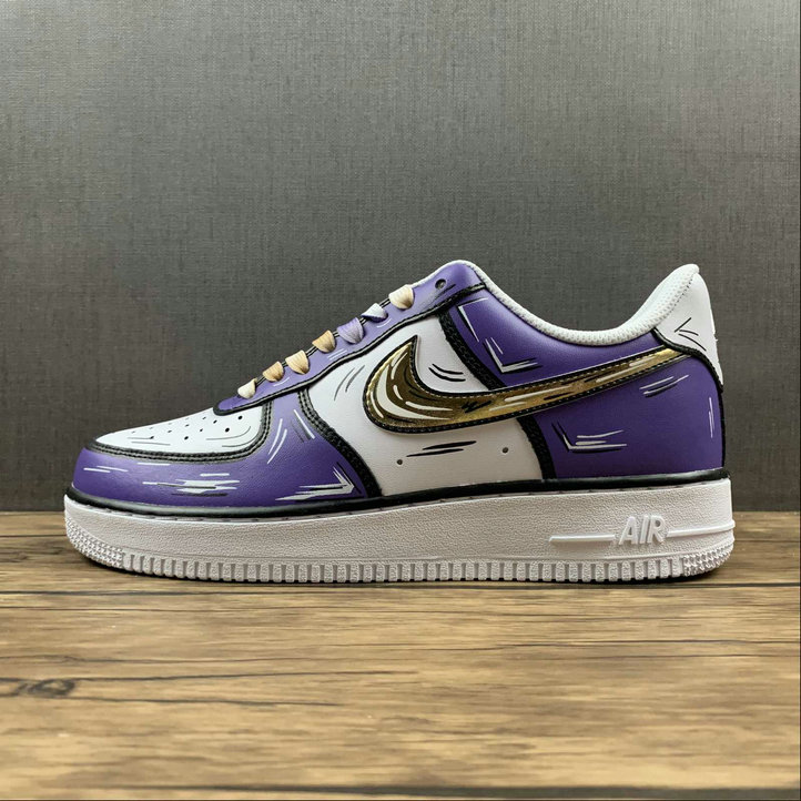 Where To Buy 2022 Cheap Wholesale Nike Air Force 1 Purple Gold White Violet Or Blanc CW2288-216 - www.wholesaleflyknit.com