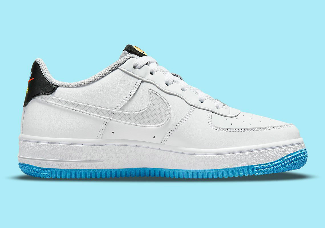 Where To Buy 2022 Cheap Wholesale Nike Air Force 1 Sticker White Wolf Grey Black Multi-Color DM8088-100 - www.wholesaleflyknit.com