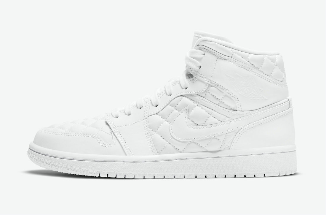 Where To Buy 2022 Cheap Wholesale Nike Air Jordan 1 Mid SE White Quilted Black DB6078-100 - www.wholesaleflyknit.com