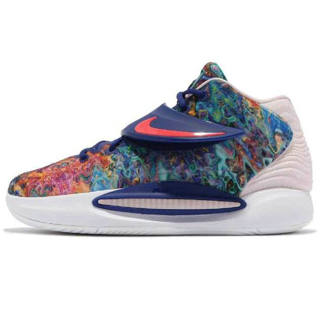 Where To Buy 2022 Cheap Wholesale Nike KD 14 EP Kevin Durant Deep Royal Blue Pale Coral CZ0170 - www.wholesaleflyknit.com